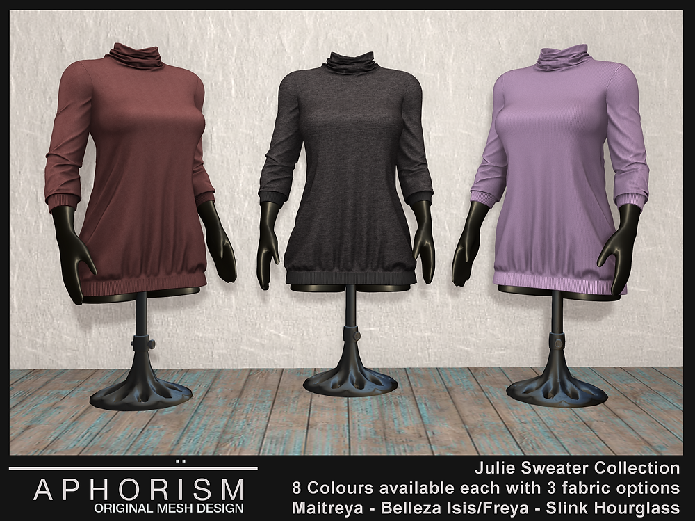 Aphorism Julie Sweaters Second Life