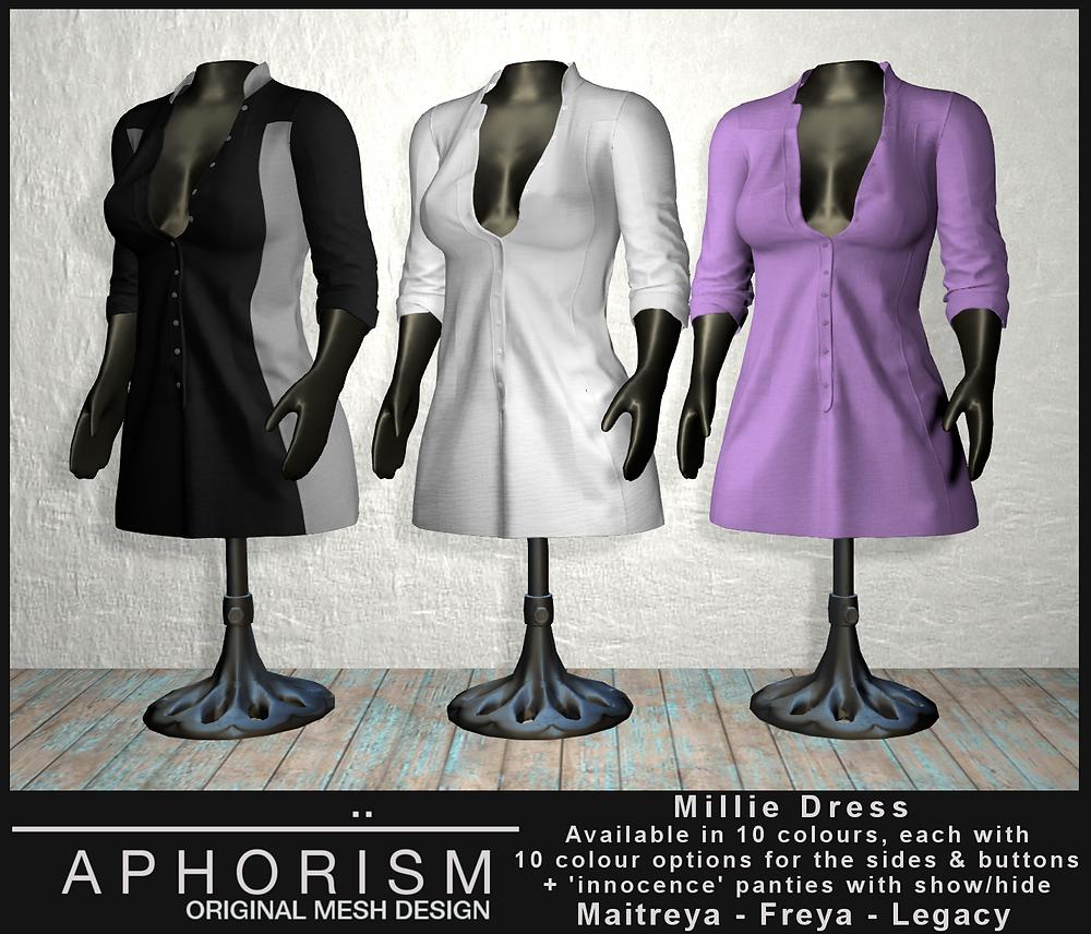!APHORISM! Millie Dress - second life
