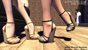 !APHORISM! Bella Wedge Sandals @ Indie Teepee