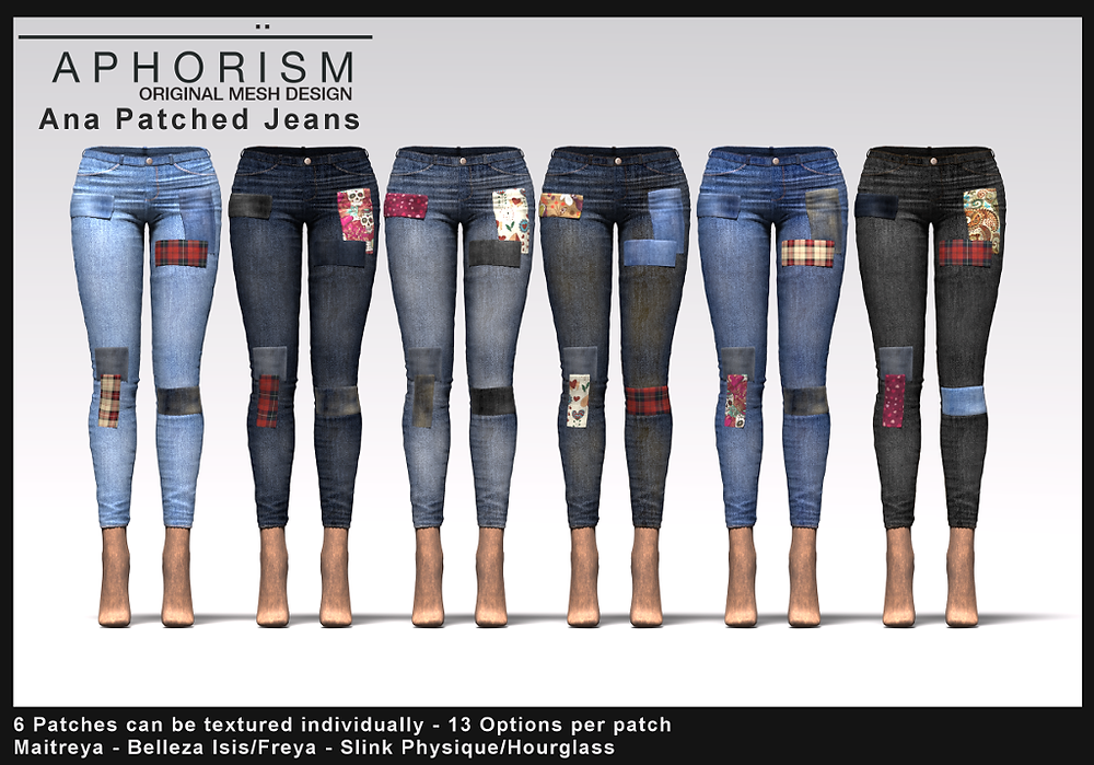 !APHORISM! Ana Patched Jeans