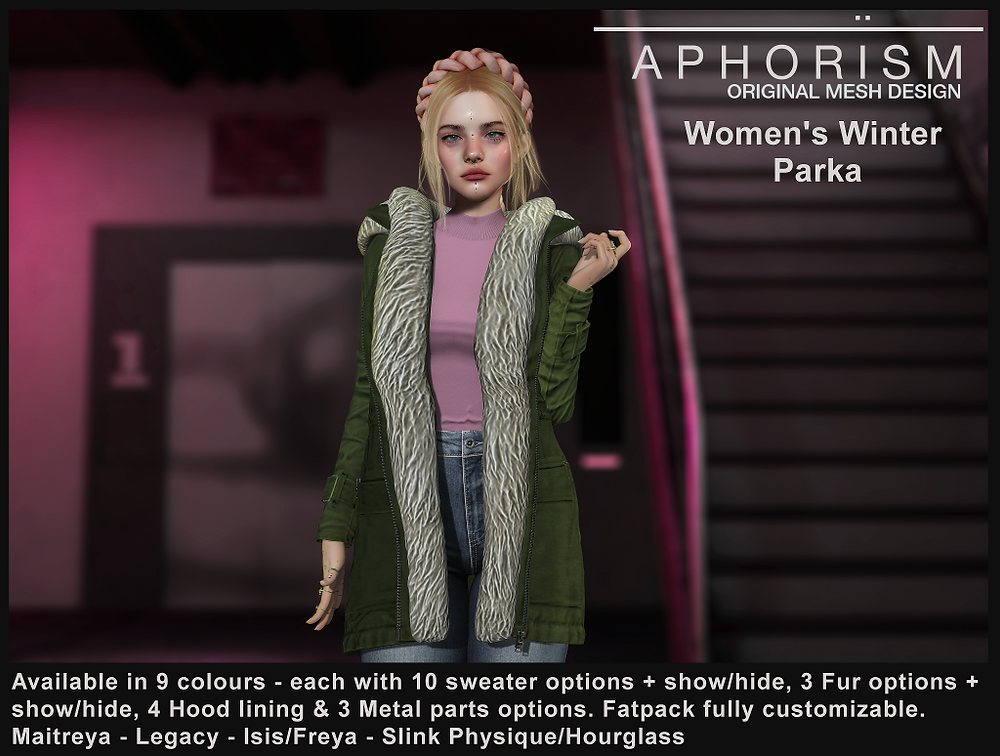 !APHORISM! Women's Winter Parka - secoind life
