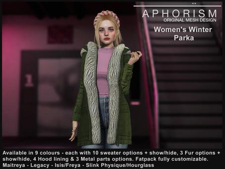 !APHORISM! Women's Winter Parka UPDATE