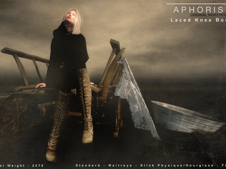 !APHORISM! Laced Knee Boots