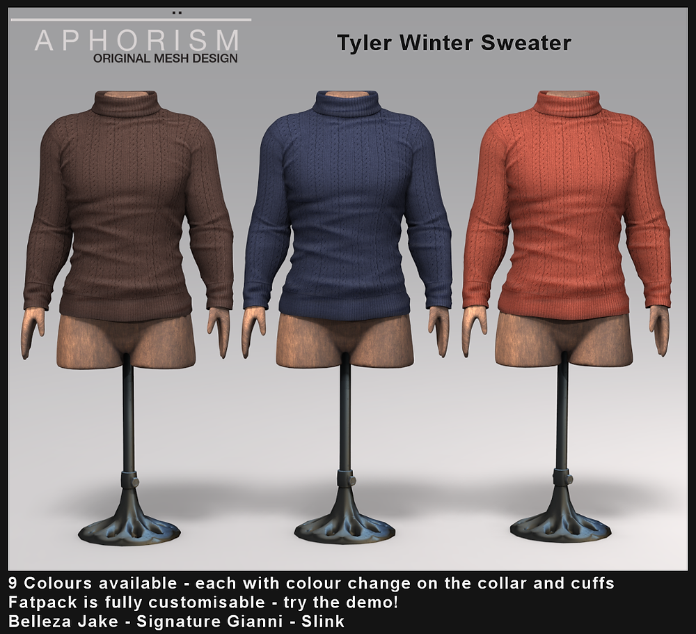 aphorism Tyler sweater second life
