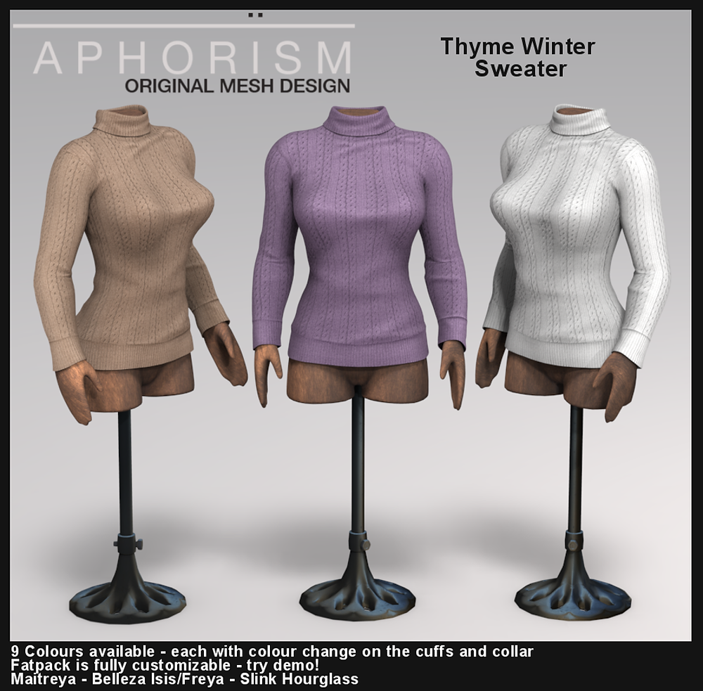 Aphorism Winter Sweater second life