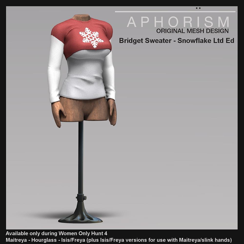 Aphorism Bridget Sweater ltd ed Second lfie