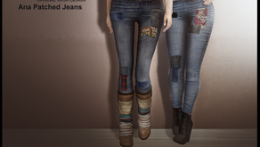 !APHORISM! Ana 'Patched' Jeans