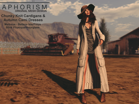 !APHORISM! - Chunky Knit Cardigans & Autumn Cami Dress Collection @ The Seasons Story Oct