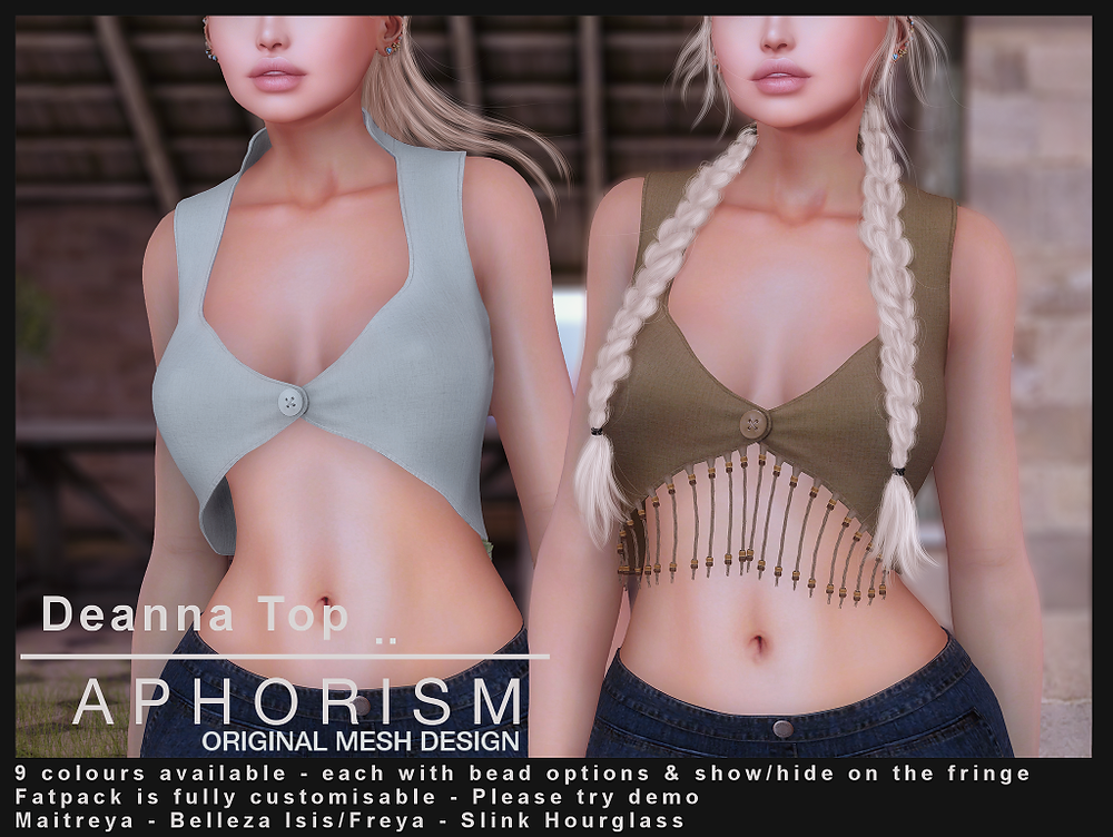 aphorism second life deanna top