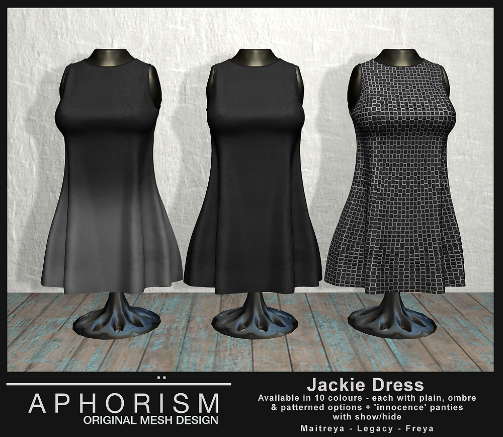 !APHORISM! Jackie Dress - Second Life