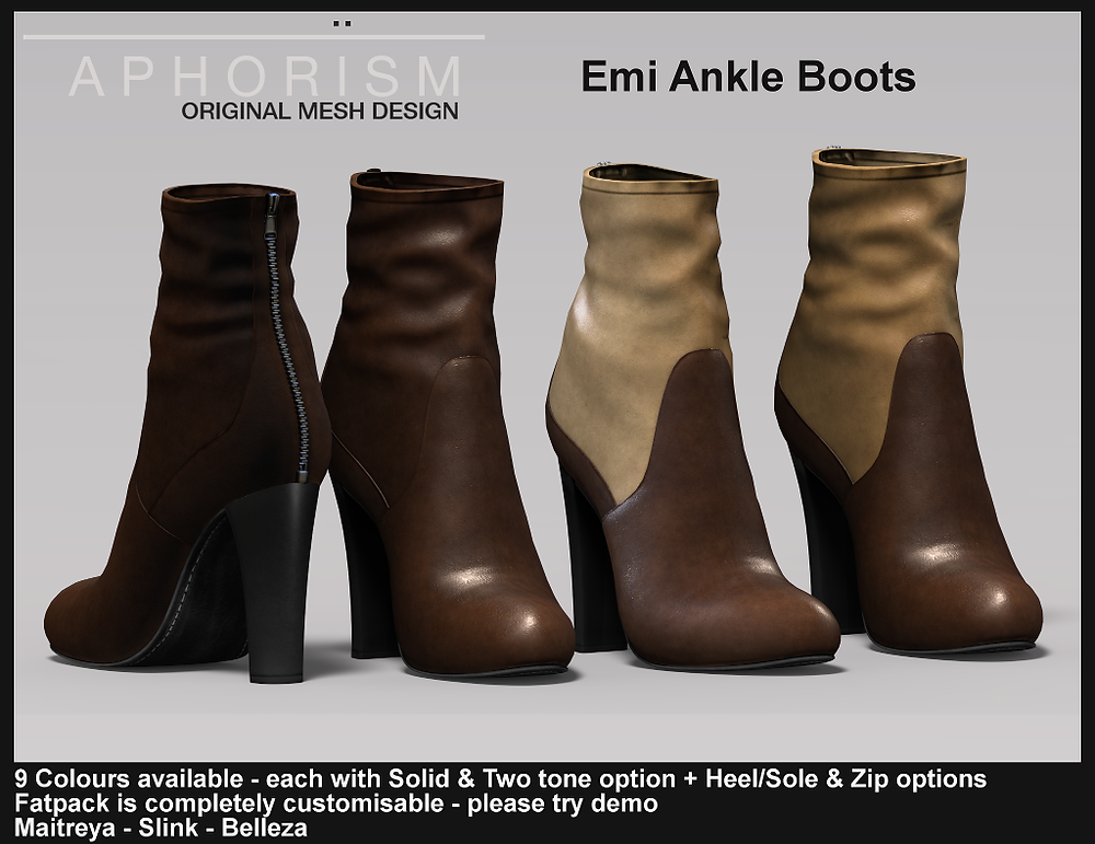 Aphorism Emi Boots Second Life