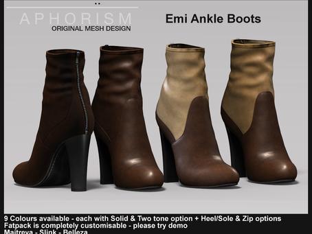 !APHORISM! Emi Ankle Boots @ Kustom9