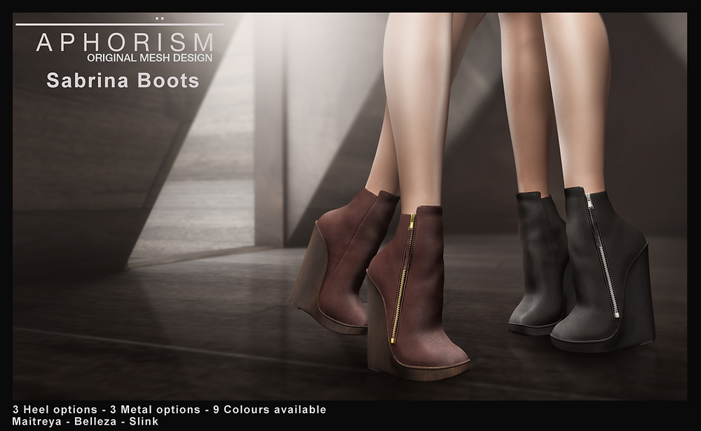 !APHORISM! Sabrina Ankle Boots second life