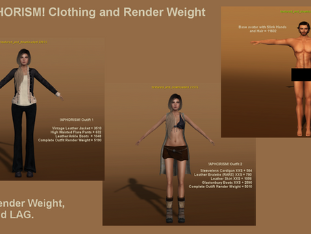 !APHORISM! A Brief Discussion About Render Weight.
