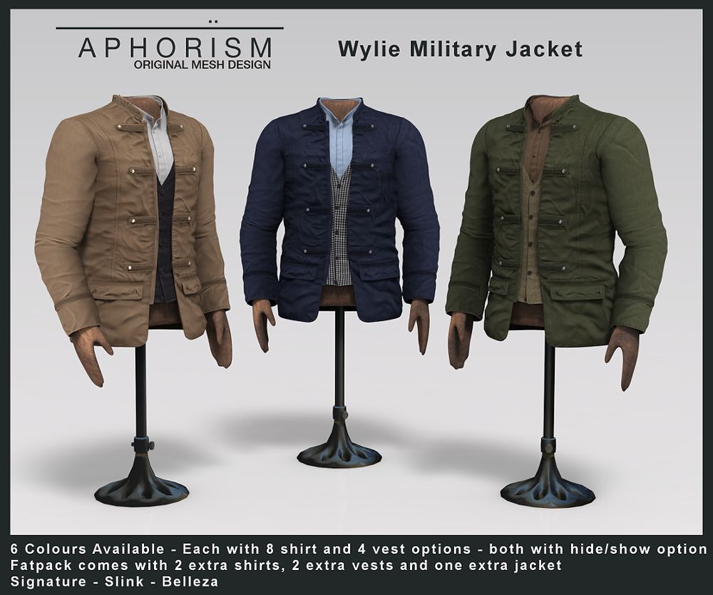 Aphorism Military Jacket - second life