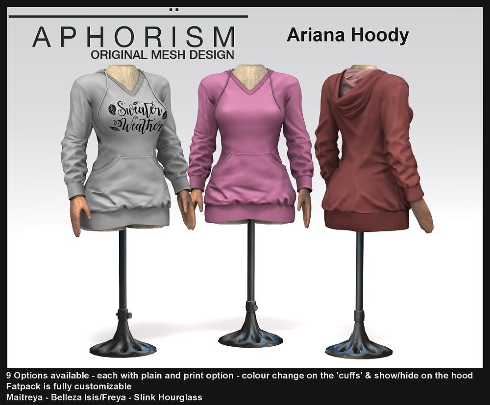 Aphorism Ariana Hoody Second Life