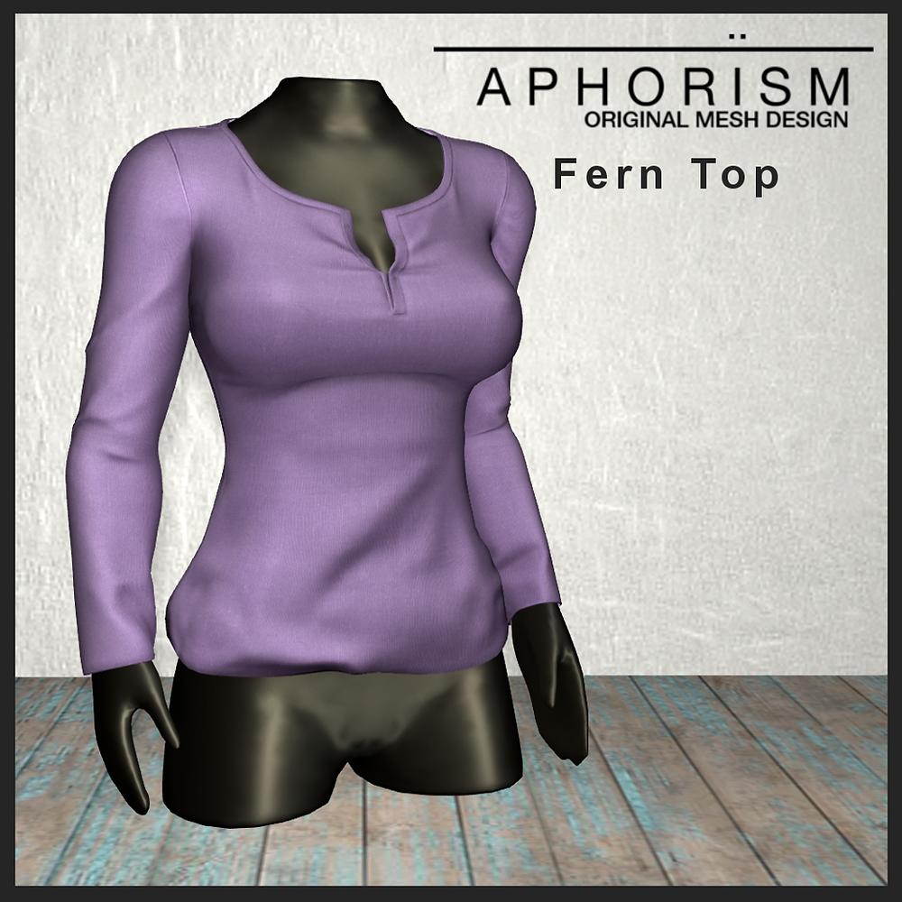 !APHORISM! Fern Top - Second Life