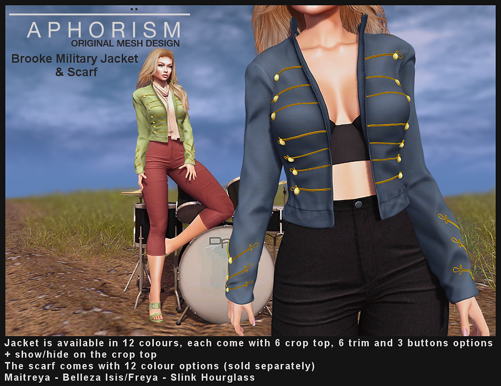 aphorism brooke jacket lana pants second life