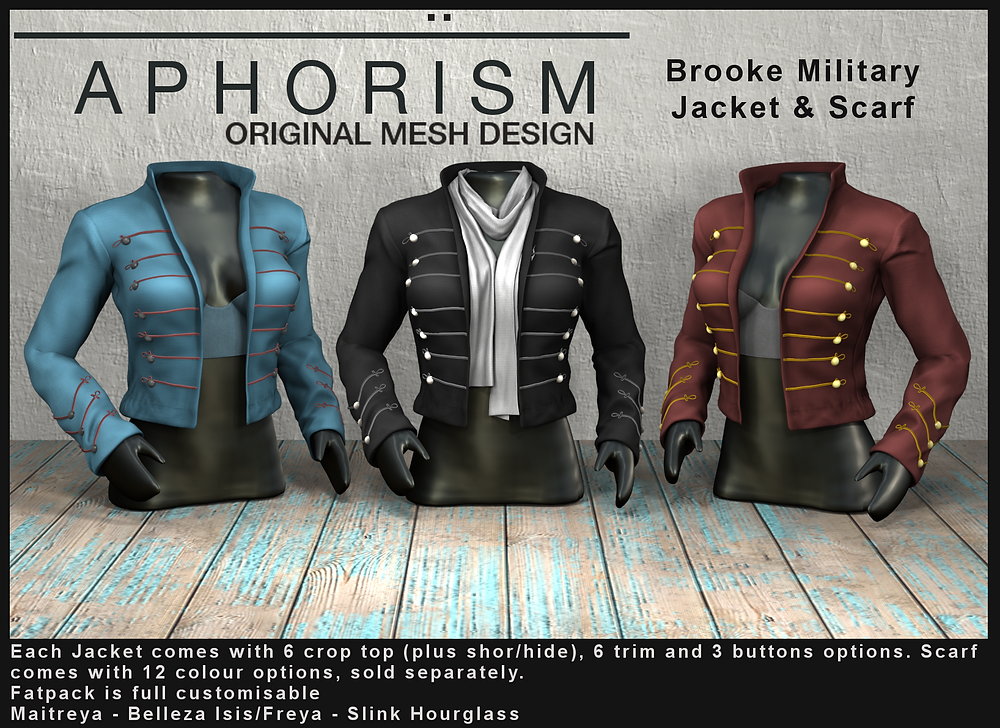 !APHORISM! Brooke military jacket second life