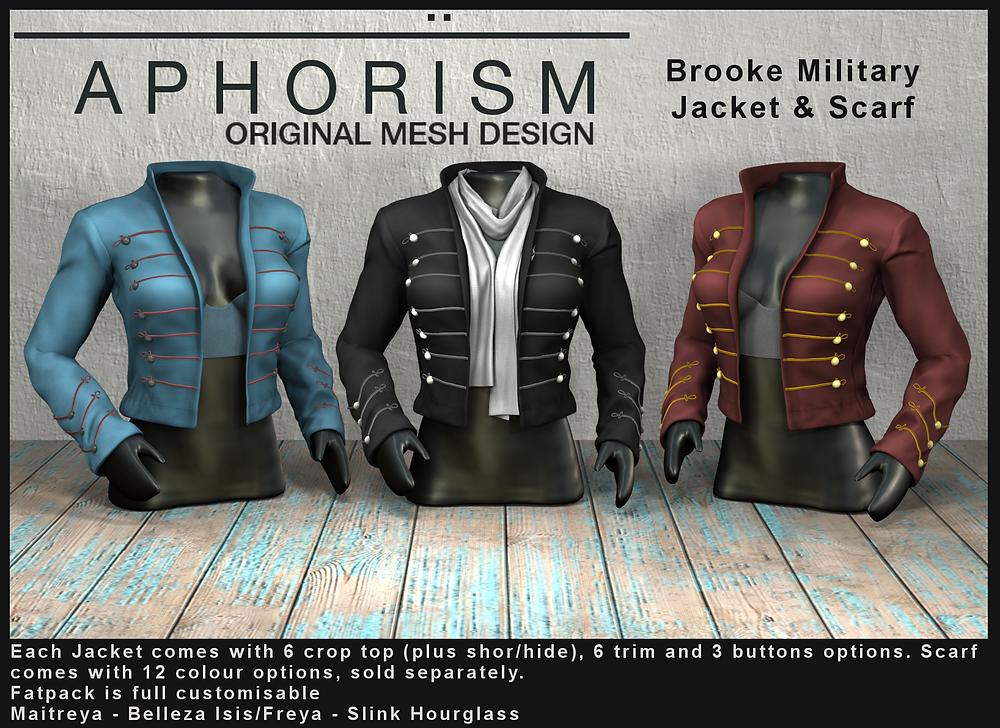!APHORISM! Brooke military jacket second life