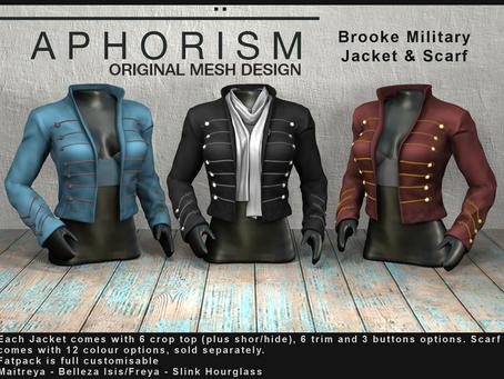 !APHORISM! Brooke Military Jacket & Scarf @ Fameshed
