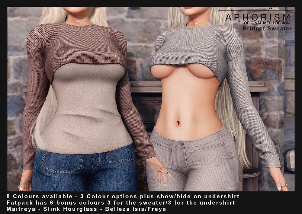Aphorism Bridget Sweater Second Life