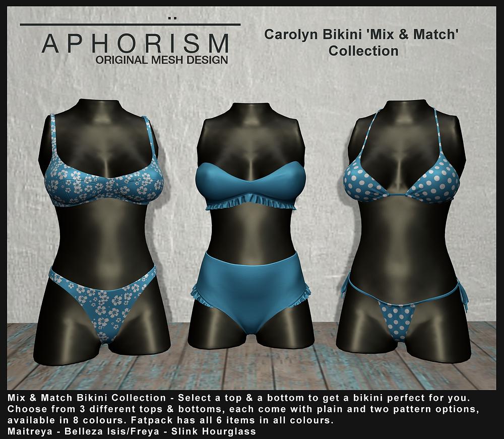 aphorism bikini collection second life