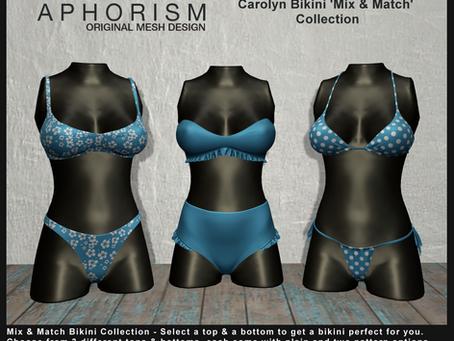 !APHORISM! 'Mix & Match' Carolyn Bikini Collection @ Kustom9