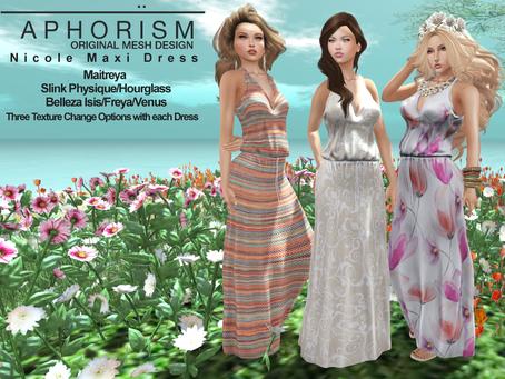 !APHORISM! Nicole Maxi Dress @ Collabor88 now!
