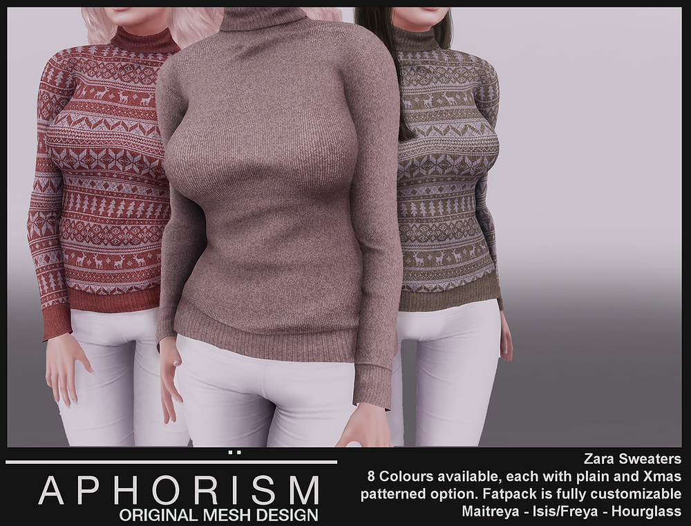 Aphorism Zara Sweaters Second Life