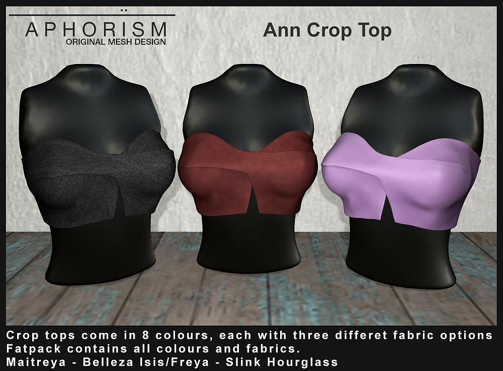 aphorism ann crop top second life