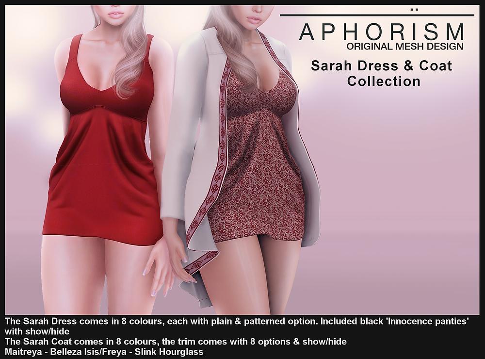 aphorism sarah coat & Dress Second Life