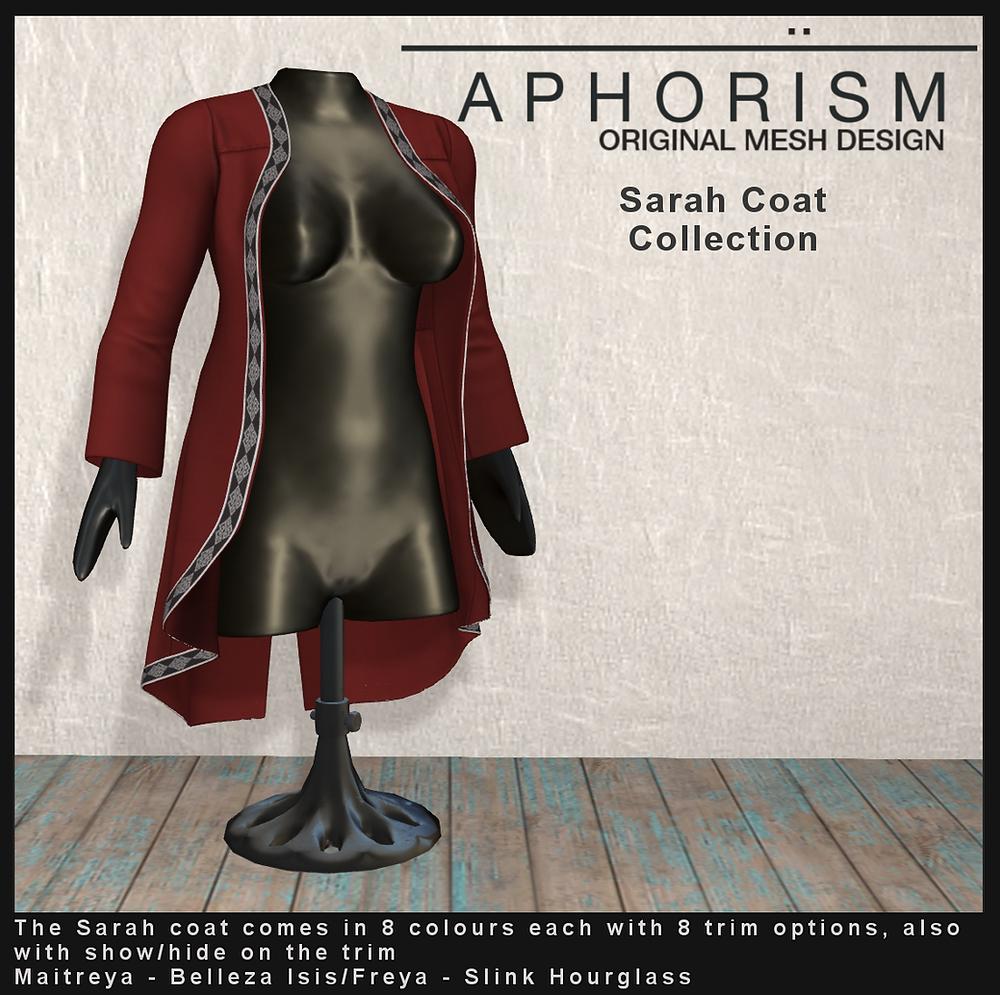 aphorism sarah coat second life