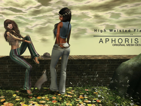 !APHORISM! High Waisted Velvet Flare Pants @ The Liaison Collaborative
