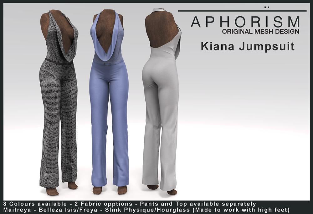 Aphorism Kiana Jumpsuit - second life