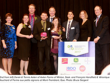 Winners of Canada's Outstanding Young Farmers for 2017 celebrated