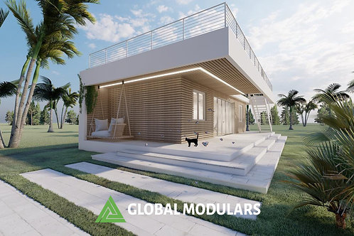 DUO Prefabricated Modular Design Container House 640 SQF
