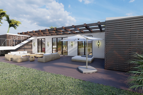 4C Prefabricated  Modular Design Container House 1,280 SQF