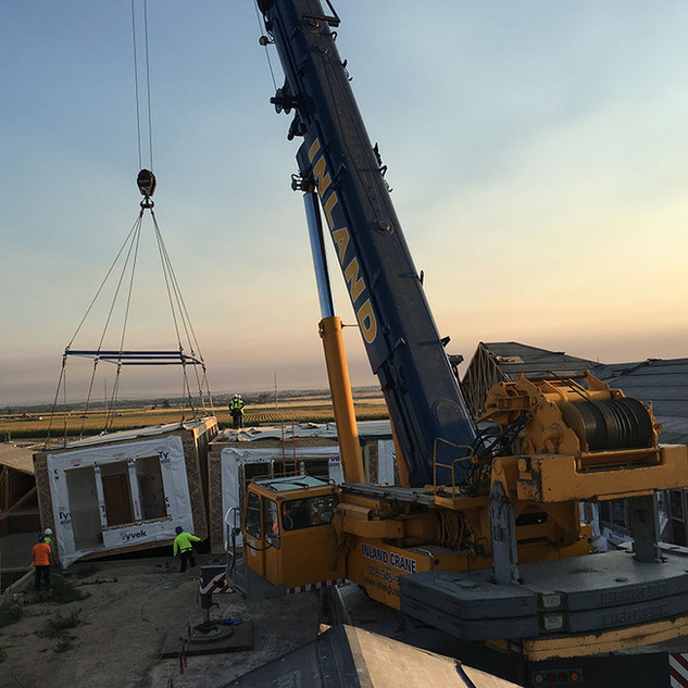 Installation with Cranes