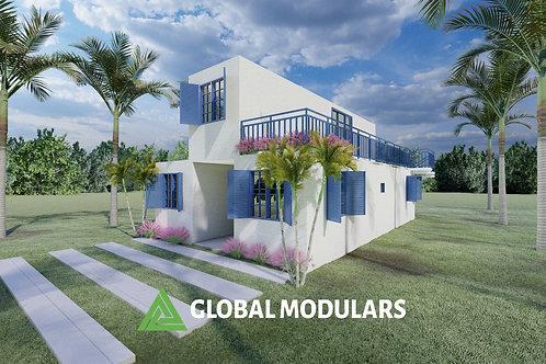 3C Prefabricated 2 Storey Modular Design Container House 920 SQF