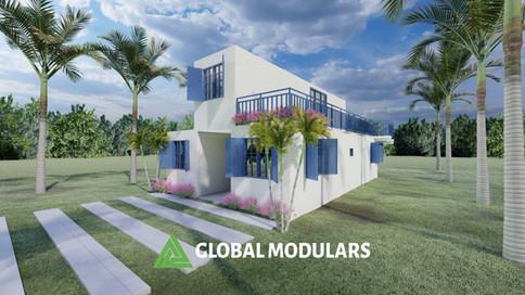3 C Modular House Exterior