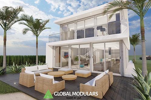 HEX High-Tech Design Modular House / Villa  2 Story: 1,920 SQF + DECKS+ BALCONY
