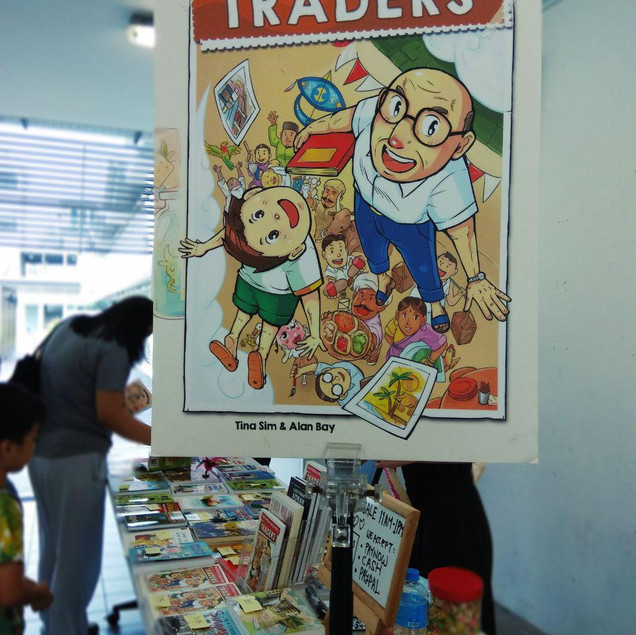 Asiapac Books setting up their stall