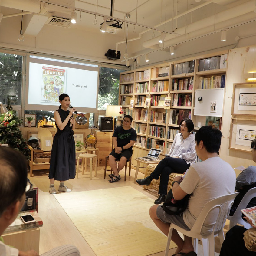 Once Upon A Singapore... Traders, sharing session at City Book Room.