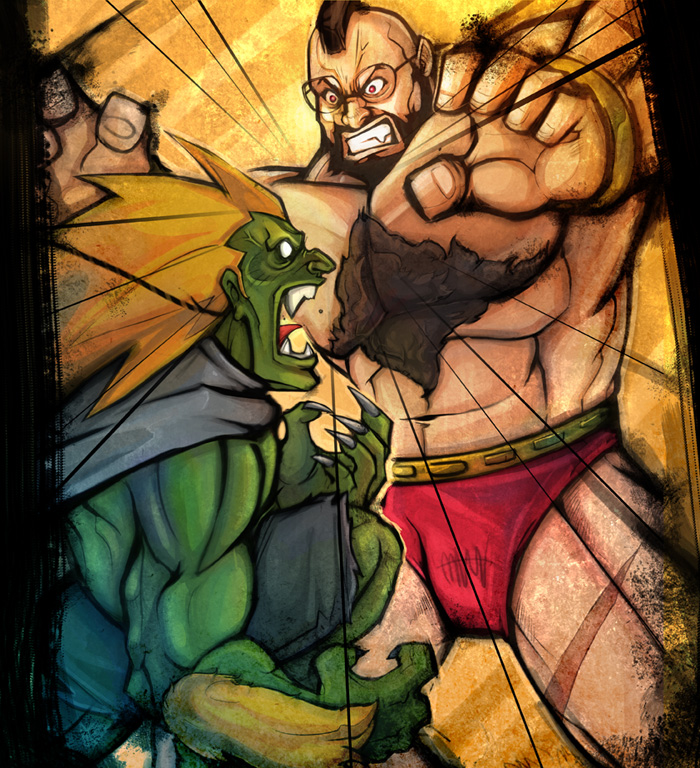Blanka vs Zangief