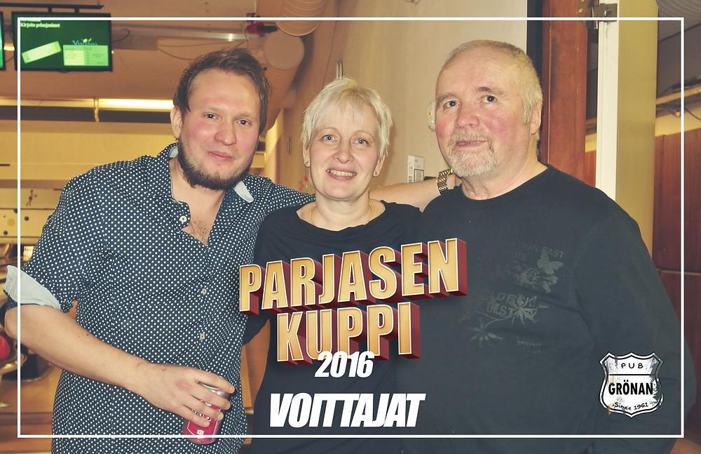 Voittajat Jokke, Kati ja Markku