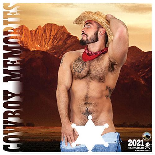 "Calendars - 2021 Calendar Nude ""Cowboy Memories"" 1' x 2' LARGE Wall"