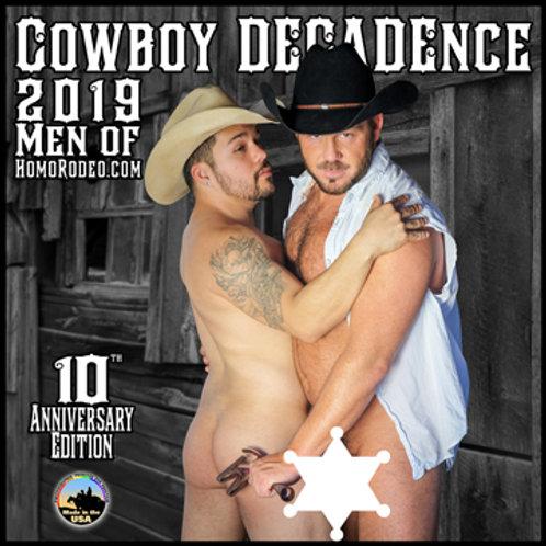 Calendars - 2019 Cowboy DECADEnce *Full-nude