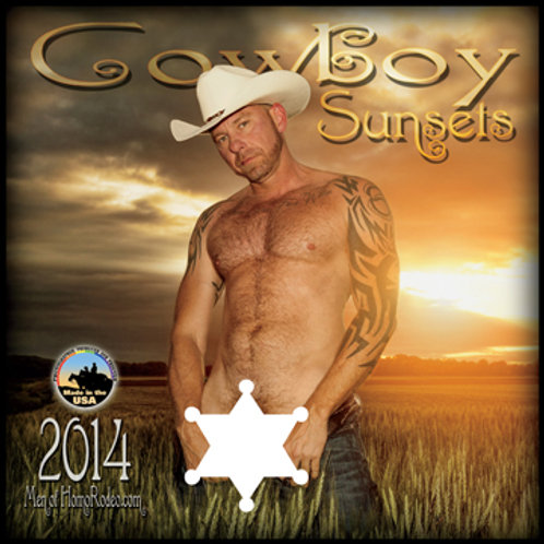 Calendars - 2014 Cowboy Sunsets *Full-nude