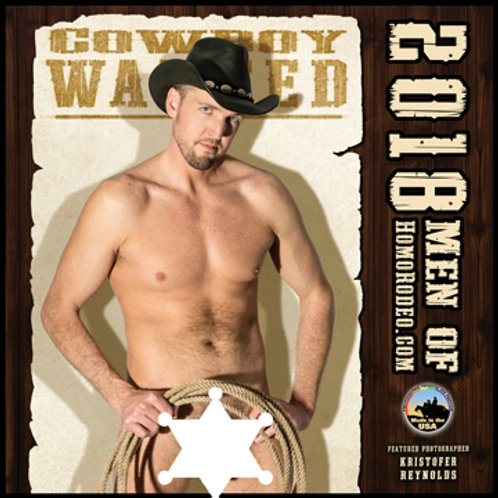 Calendars - 2018 Cowboy WANTED *Full-nude